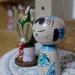 猫こけし(梅木直美工人)